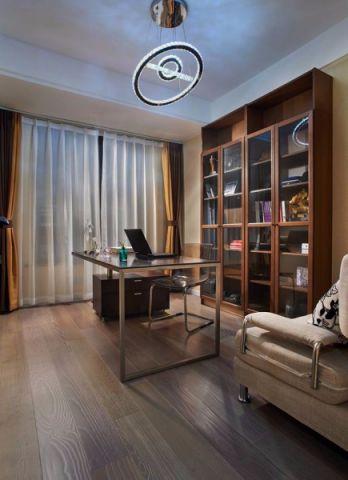 书房吊顶现代简约风格装潢设计图片
