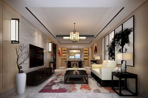 118万预算160平米三室两厅装修效果图