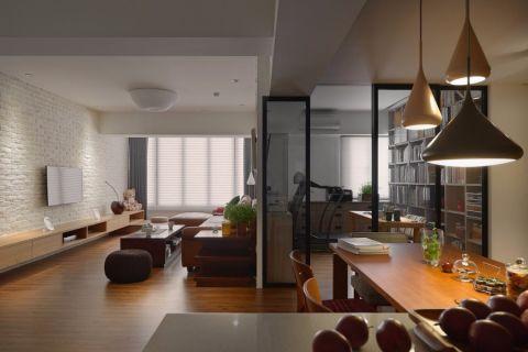 8.8万预算120平米三室两厅装修效果图