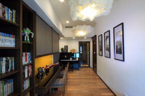 书房背景墙现代简约风格装饰图片
