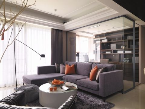 客厅隔断现代简约风格装饰图片