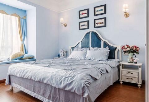 卧室蓝色飘窗装修设计图片