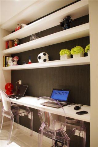 书房书桌现代简约风格装饰图片