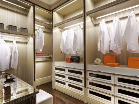 衣帽间衣柜现代欧式风格装修设计图片