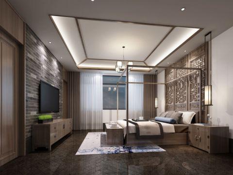 卧室床头柜中式风格装潢设计图片