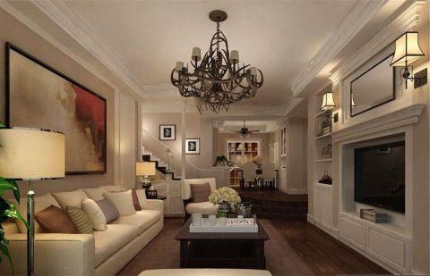 美式风格240平米复式房子装饰效果图