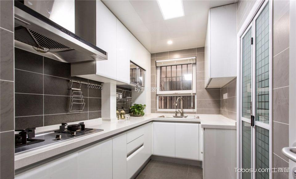 厨房白色背景墙美式风格装饰图片