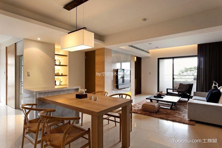 餐厅白色吧台现代风格装修设计图片