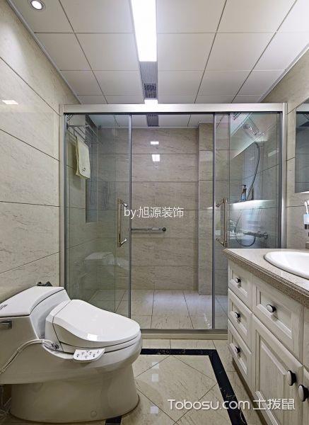 卫生间白色推拉门现代风格装饰效果图
