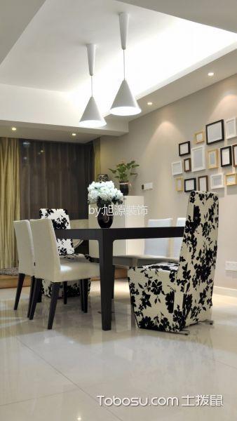 餐厅米色照片墙简约风格装潢设计图片