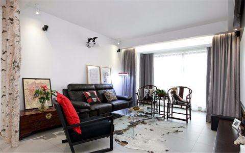 客厅沙发新中式风格装潢图片
