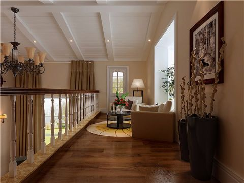阳台沙发简欧风格装潢设计图片