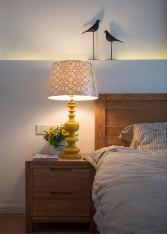 卧室床头柜简约风格装潢效果图