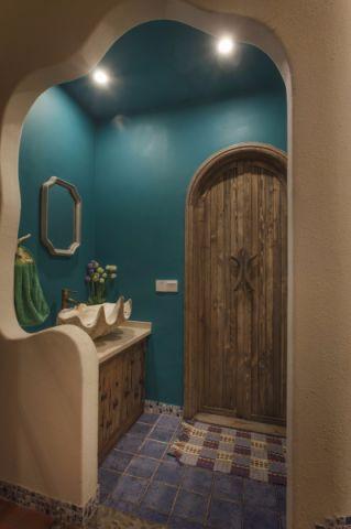 卫生间背景墙混搭风格装修设计图片