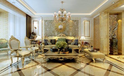 客厅吊顶欧式风格装饰设计图片