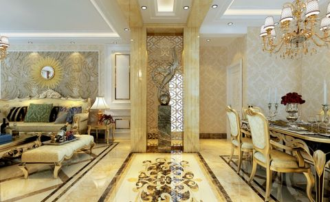 餐厅走廊欧式风格效果图