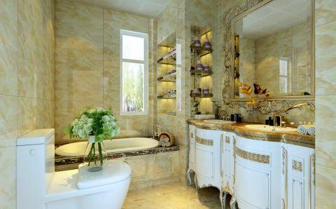 卫生间背景墙欧式风格装饰图片