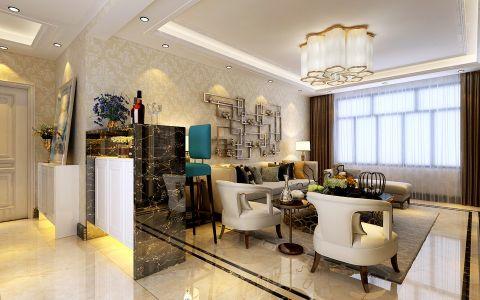 客厅窗帘现代简约风格效果图
