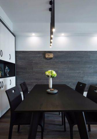 餐厅餐桌现代简约风格装潢图片