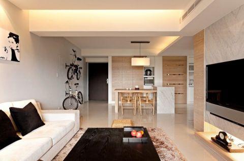 客厅隔断现代风格装潢效果图