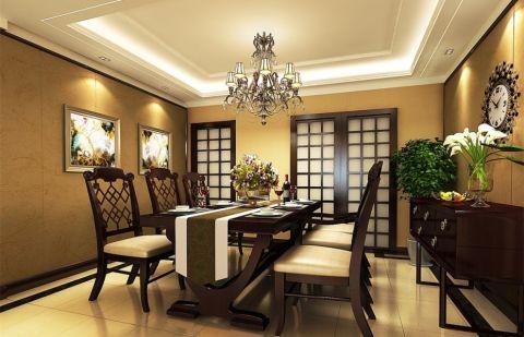 半岛国际美式风格四居室效果图