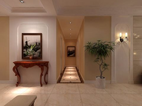 玄关走廊美式风格装修设计图片