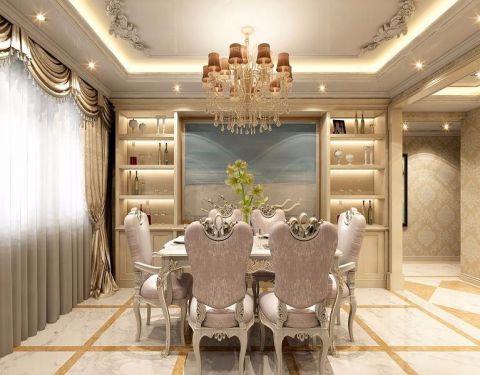 餐厅背景墙欧式风格装饰设计图片
