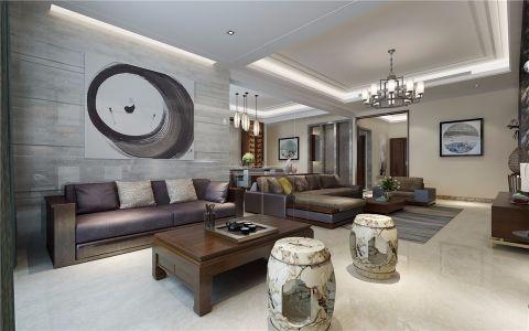 客厅门厅新中式风格装潢设计图片