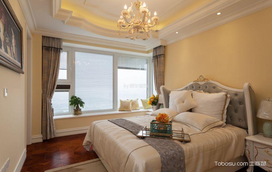 卧室白色飘窗简欧风格装潢设计图片