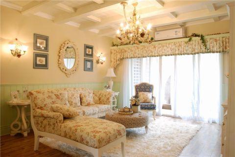 龙湖紫云台三居室田园风格案例