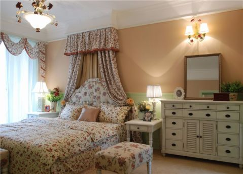 卧室田园风格装饰图片