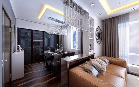 客厅吊顶后现代风格装潢图片