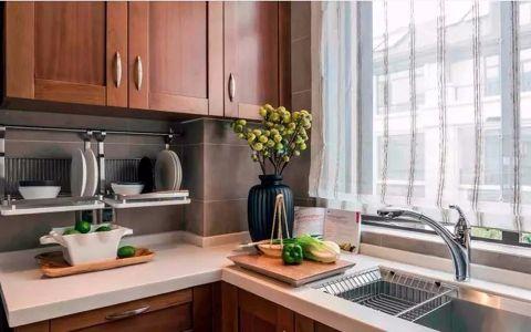 厨房窗帘新中式风格装潢图片