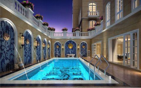 花园泳池简欧风格装饰效果图