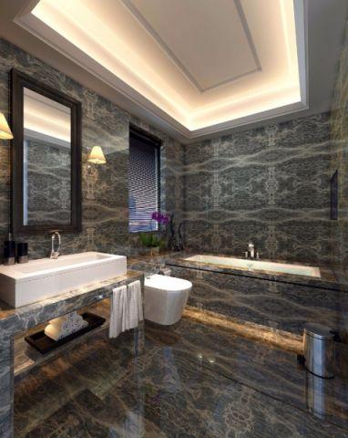 卫生间背景墙简约风格装饰效果图