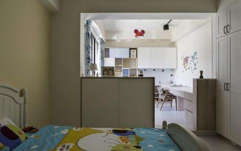 卧室隔断现代简约风格装潢设计图片