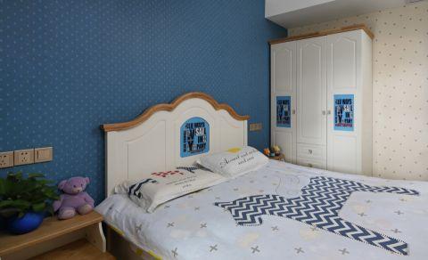 儿童房背景墙简欧风格装潢图片