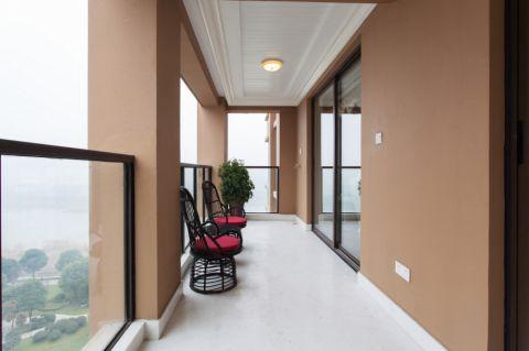 阳台背景墙简欧风格装潢效果图
