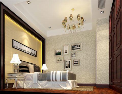 卧室照片墙简欧风格装饰效果图