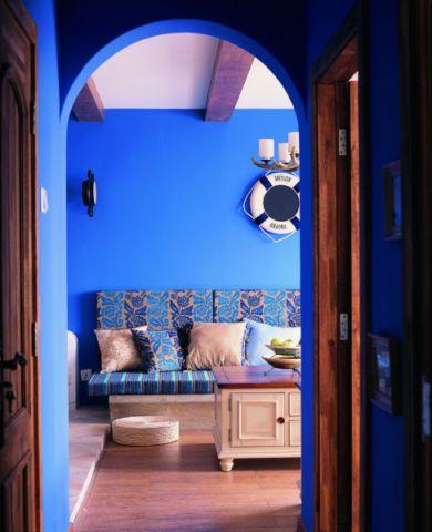 玄关背景墙地中海风格装修图片