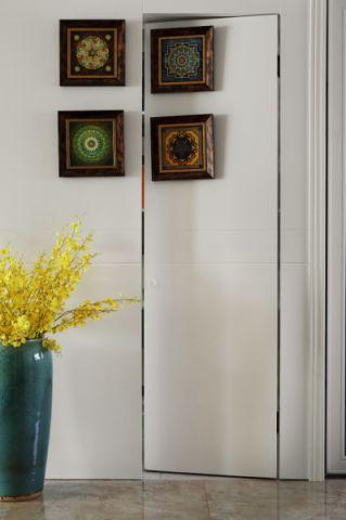 客厅隐形门美式风格装潢图片