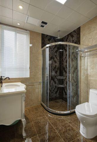 卫生间背景墙美式风格装修效果图