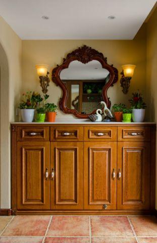 玄关背景墙美式风格装饰图片