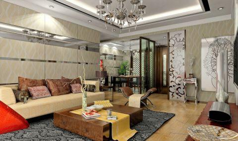 10万预算91平米三室两厅装修效果图