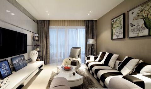 简约风格89平米3房2厅房子装饰效果图
