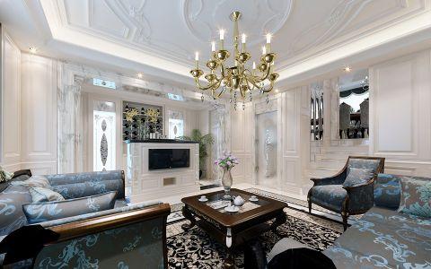 客厅吊顶法式风格装潢图片