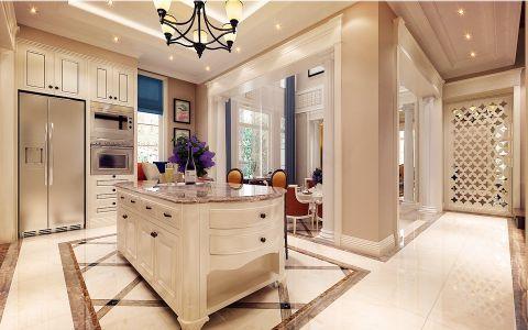 厨房窗帘美式风格装修效果图