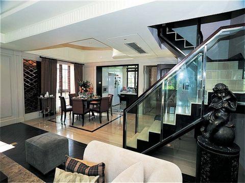 餐厅楼梯美式风格装潢效果图