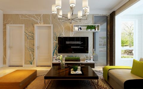 3万预算90平米两室两厅装修效果图