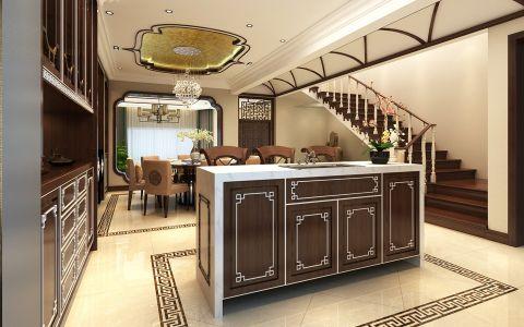 餐厅吧台新中式风格装修图片